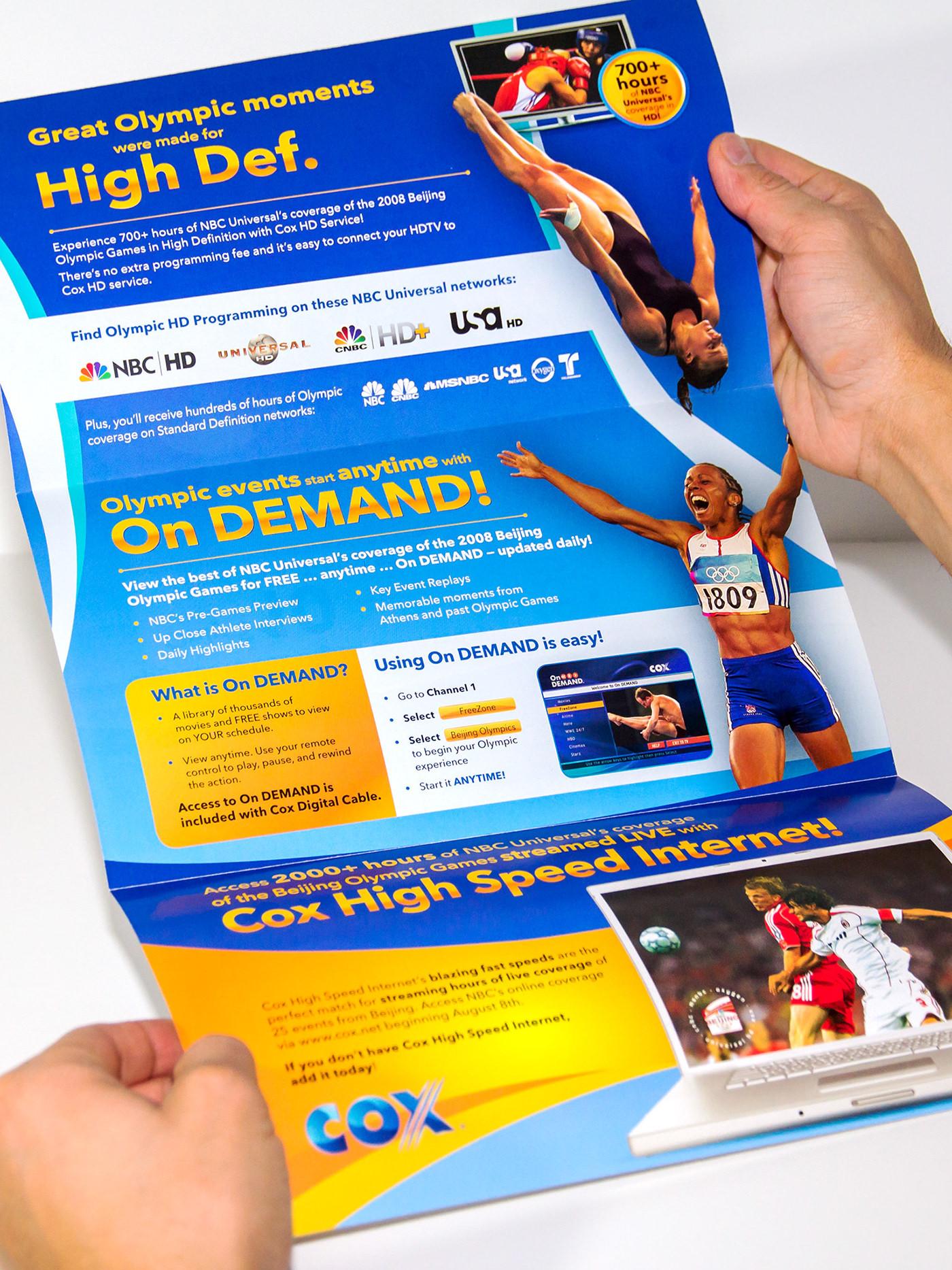 Cox olympic  Mailer summer Games digital Cable upgrade jasper award marketing   Direct mail nbc universal