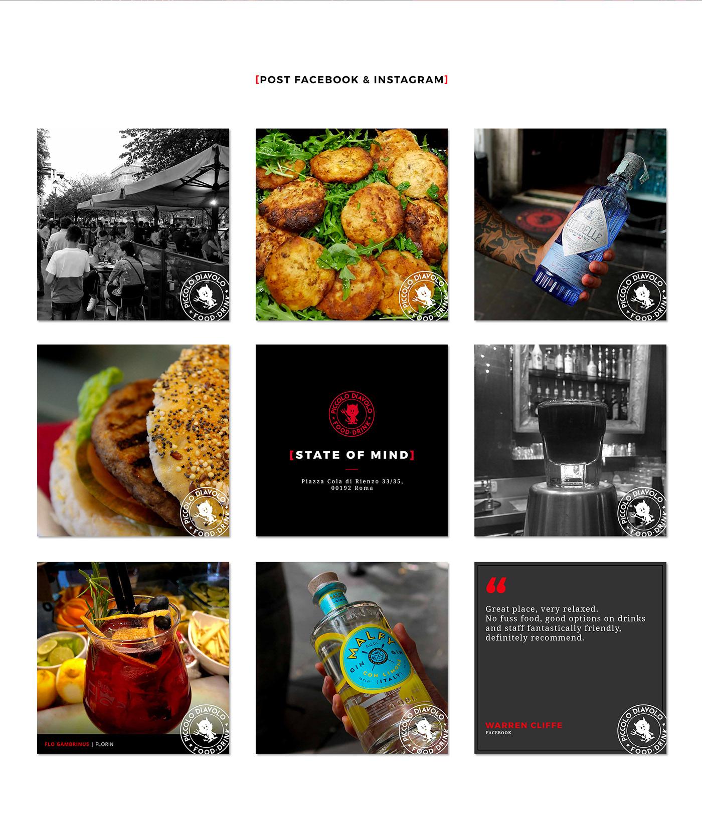 social media bar Food  facebook instagram Stories cocktail wine graphic design  Social Strategy