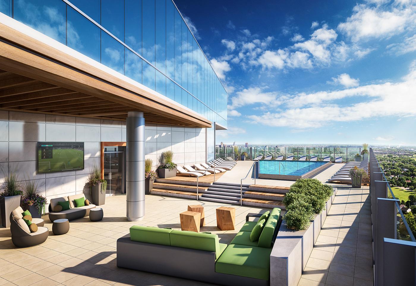 terrace Renderings architecture visualization