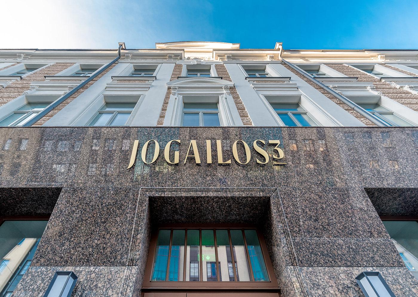 Residence jogailos3 branding  identity wordmark artdeco modern sign logowordamrk luxury