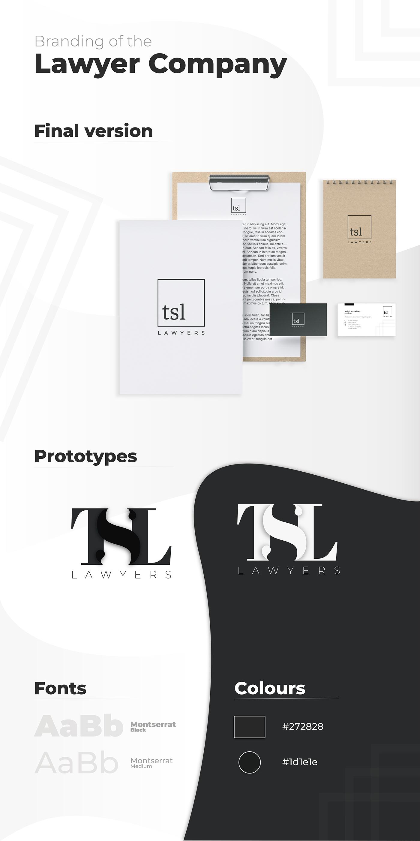 black and white brand branding  company elegant key visual lawyer lawyer company logo visual identity