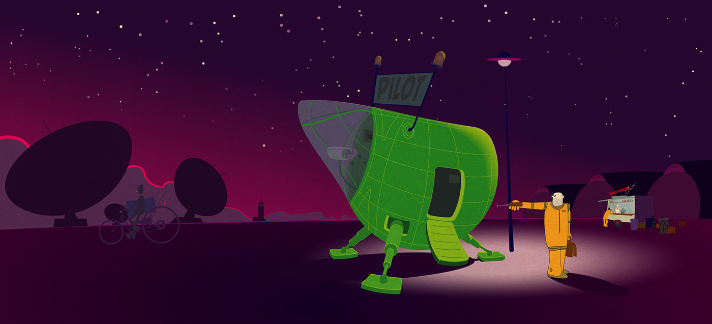 Zeichnung art Illustrator vector vectorgraphik Space  science fiction ILLUSTRATION  vector art