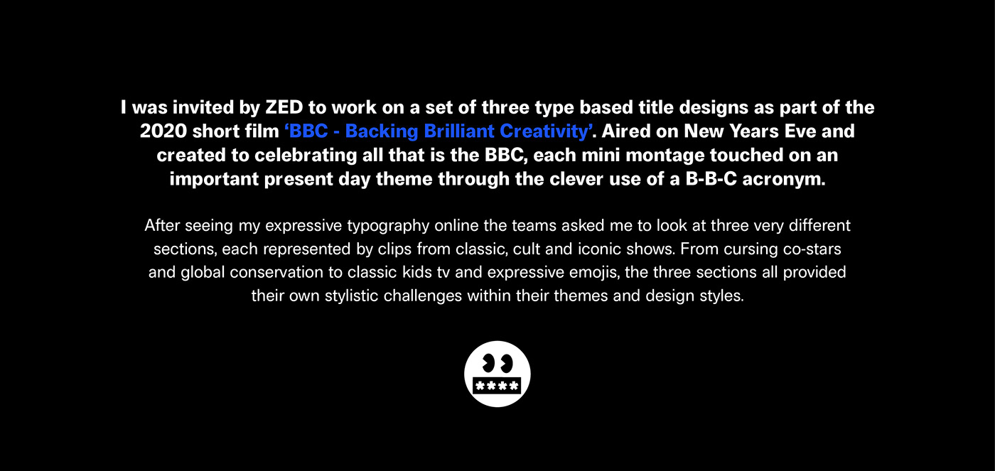 animation  BBC Film   graphic design  Kinetic Type lettering motion graphics  titles tv typography