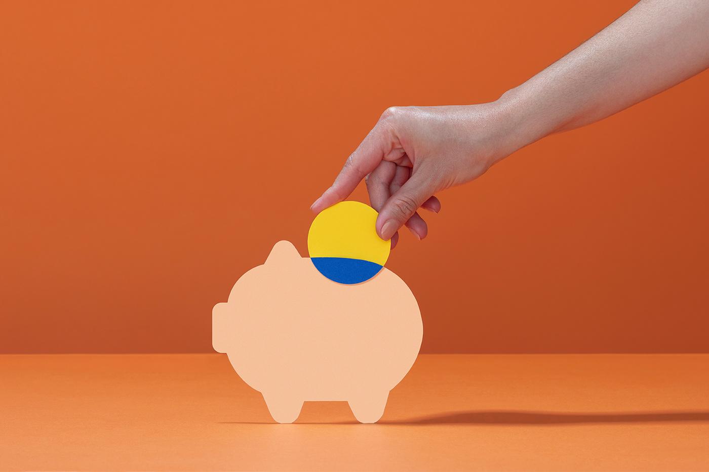 app Bank brand credit card design Fintech Inclusive money Technology finance