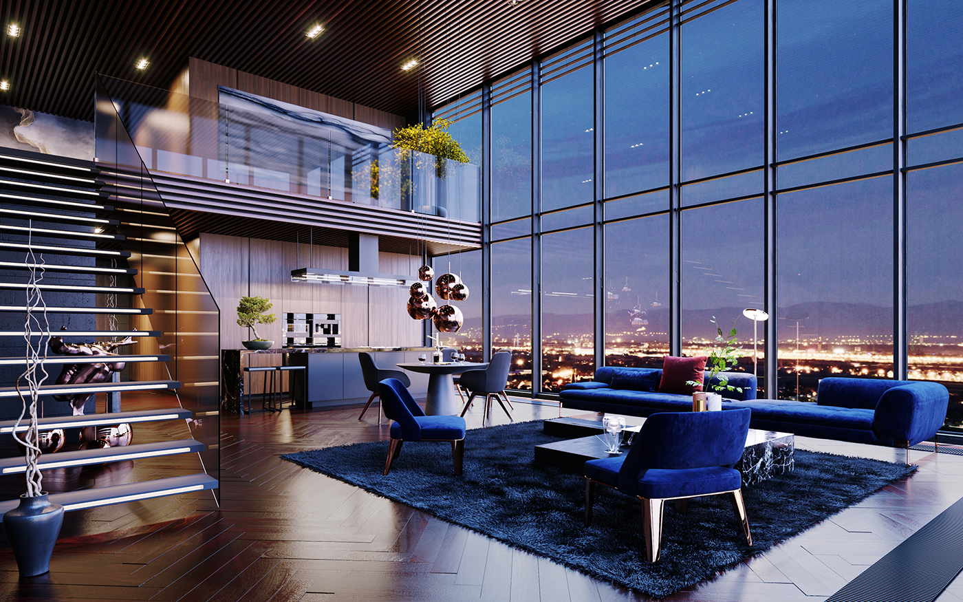 Luxury Penthouse In Los Angeles Usa Cgi On Behance