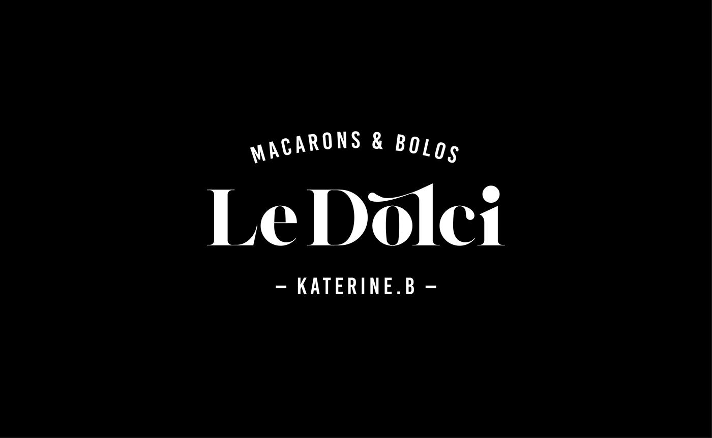 bakery branding  cake Le Dolci logo macaroon Packaging whoswho WW