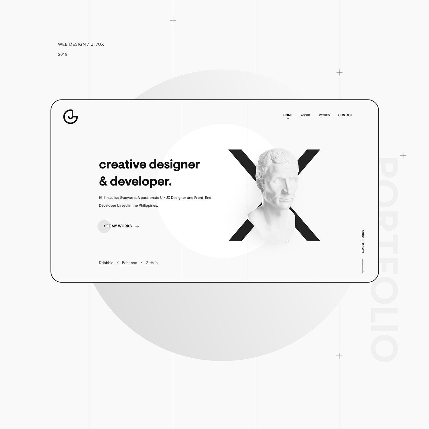 portfolio minimal Website gray personal minimalistic Minimalism