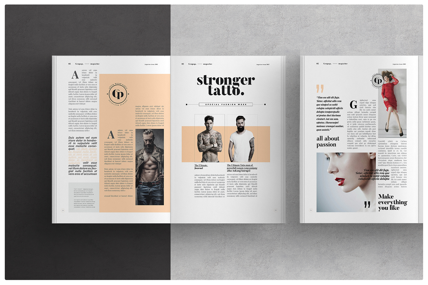 magazine layout on behance. Black Bedroom Furniture Sets. Home Design Ideas