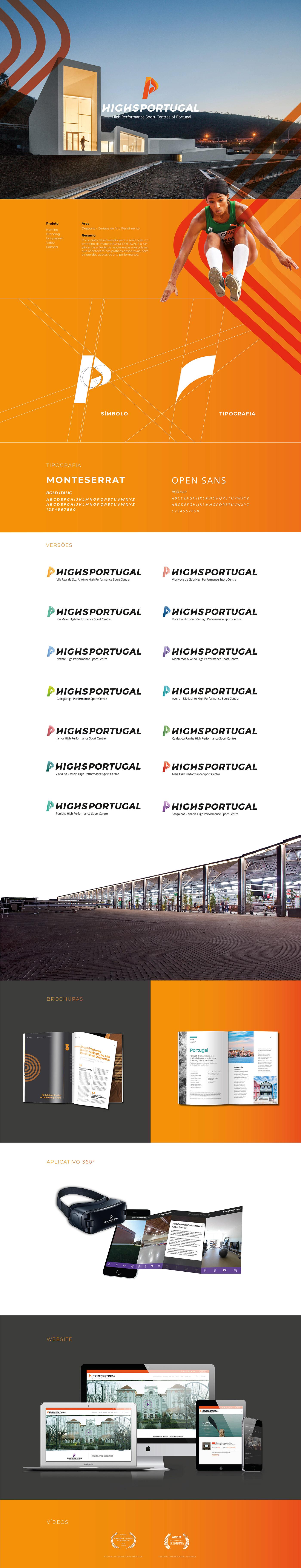 Logotipo highsportugal com centro de alto rendimento