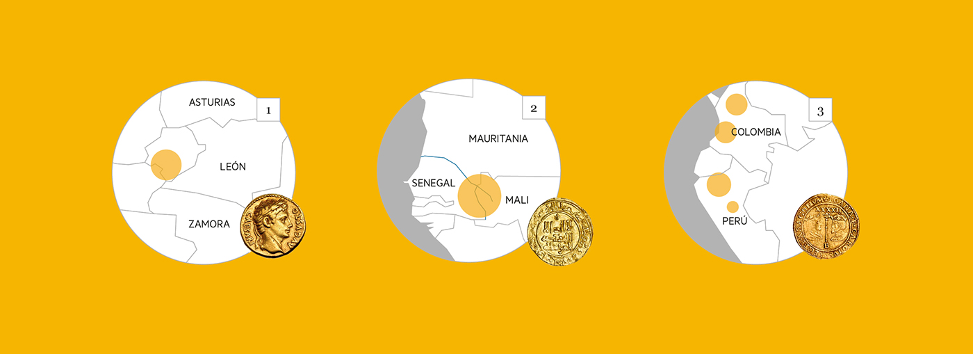 infographics Data organization oro gold infografia graphic infography editorial spain