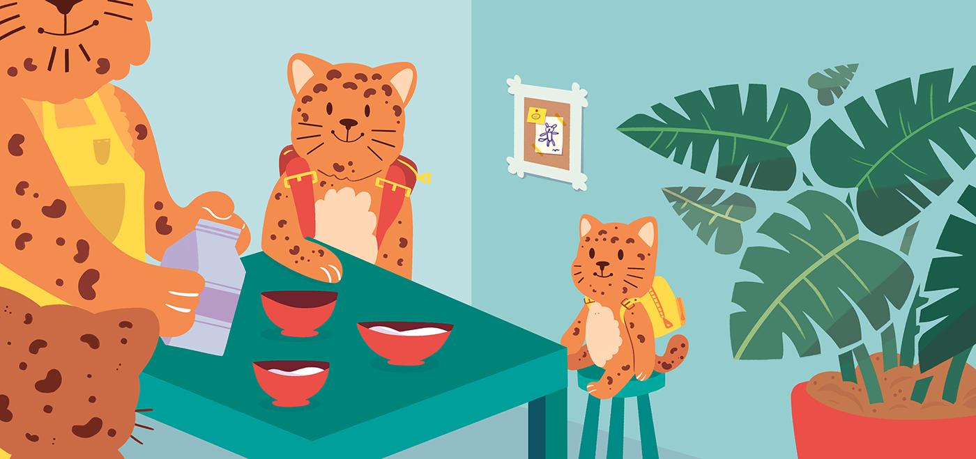 children's book kidlit Digital Art  children's illustration ILLUSTRATION  animals photoshop cute art book design