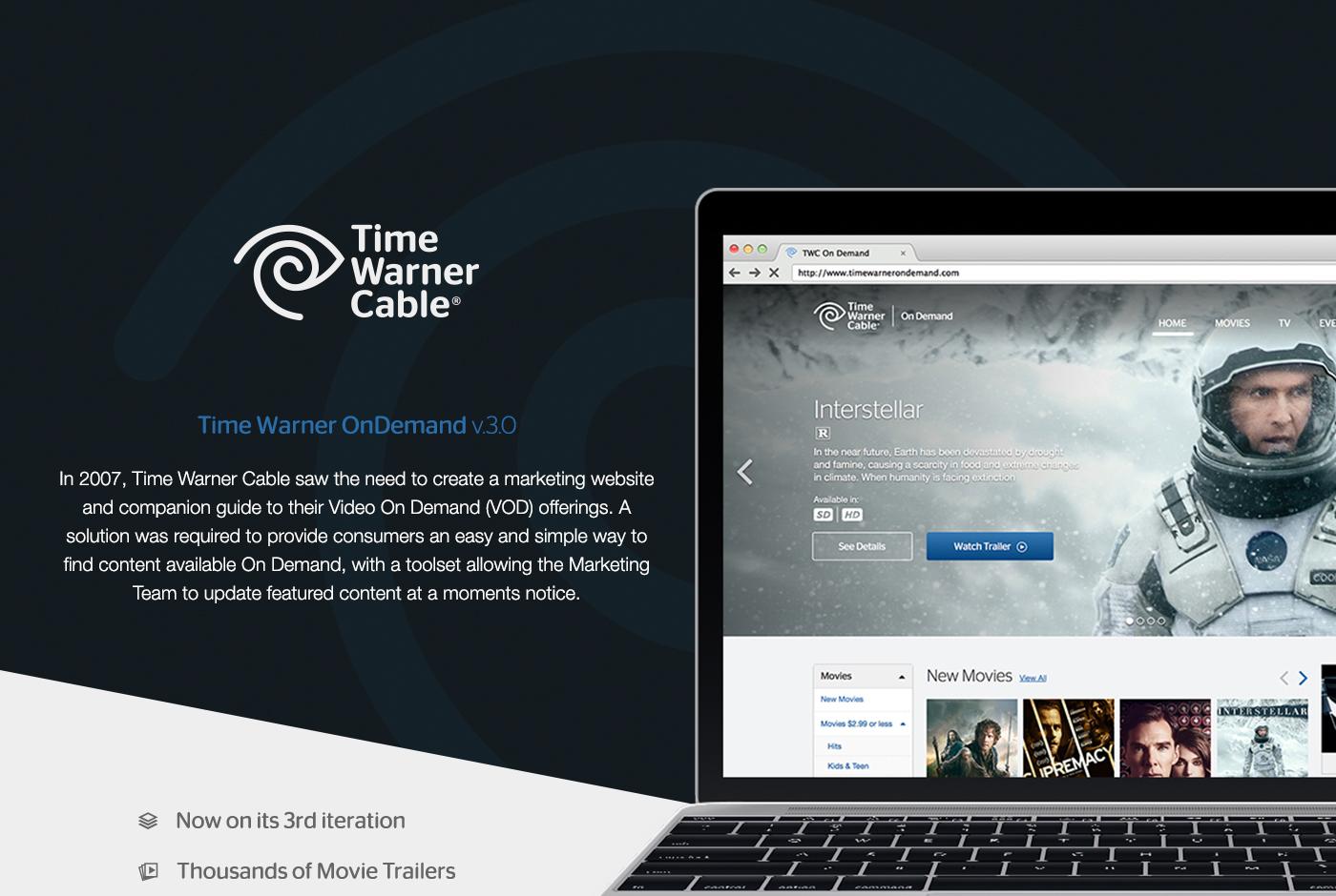 user experience time warner Time Warner Cable TWC On Demand cms video Asset Management Enterprise Platforms