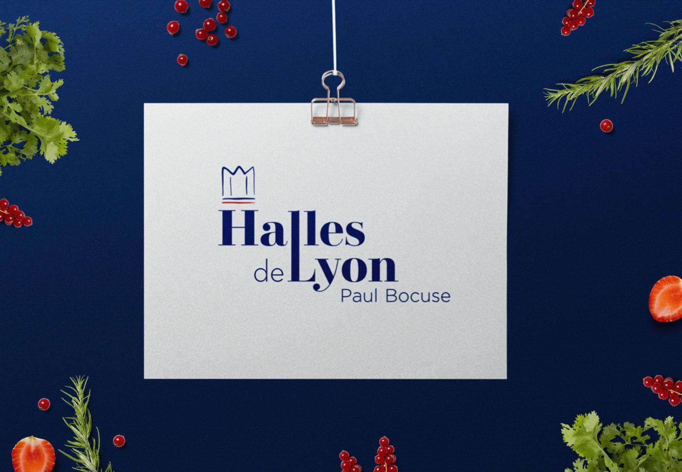 branding  design culinaire design graphique food design halles halles de lyon identité visuelle logo Logotype