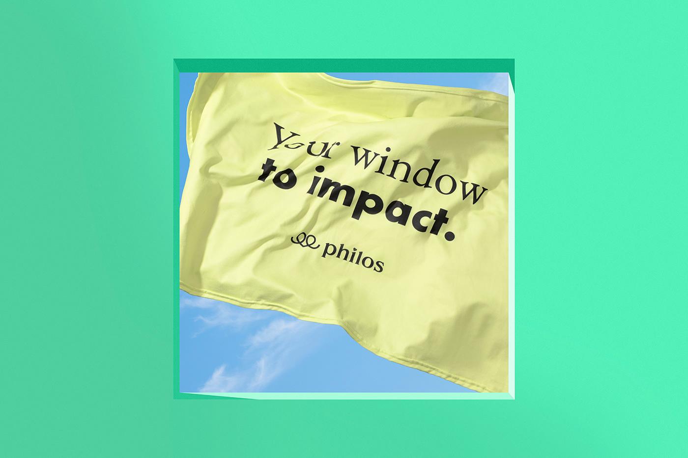 billboard brochure donation flag ILLUSTRATION  impact organization Philanthropy  Web Window