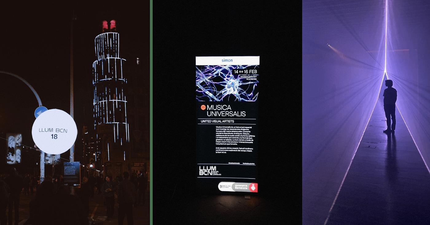 barcelona black brain design experimental light light festival Llum BCN neuron sinapsis