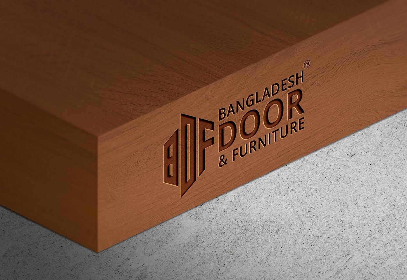 Furniture Logo Design - Door Logo (8 Free Logo Mockup) on ...