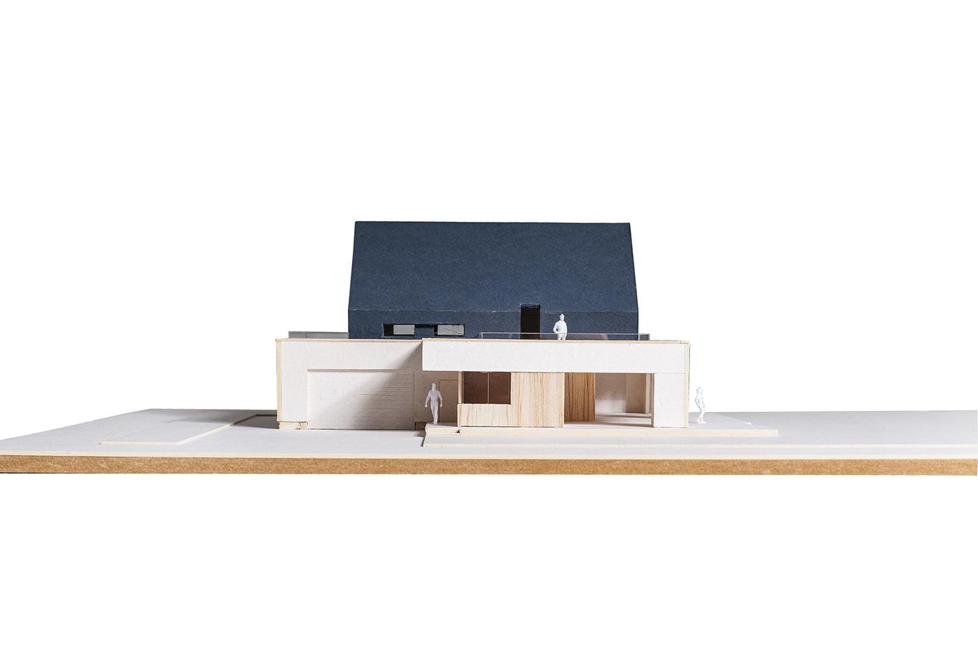 modern house modern barn single family house Wood façade Minimalism individual project Smart House meeko