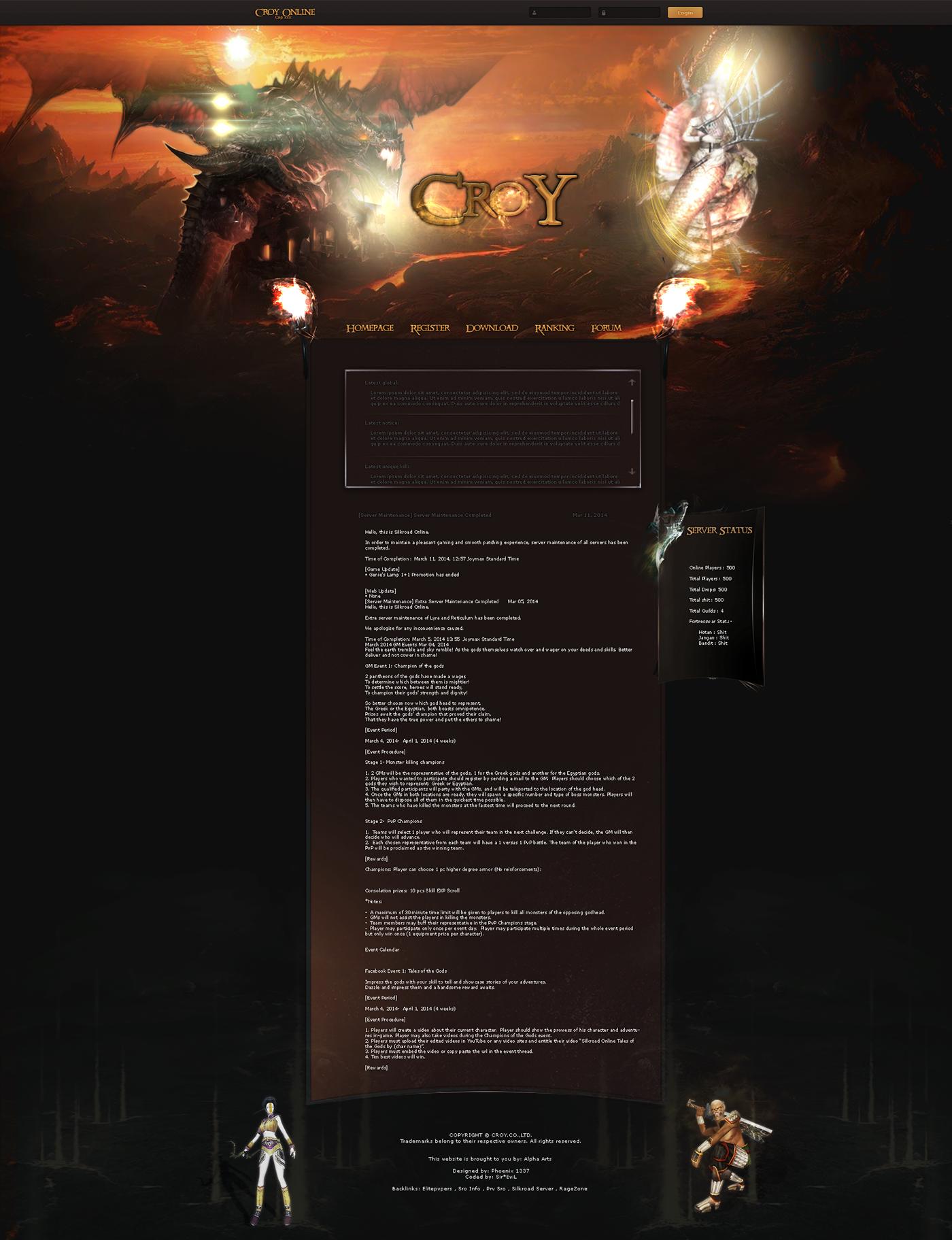 Croy Online [Web Design + Complete GUI] on Behance