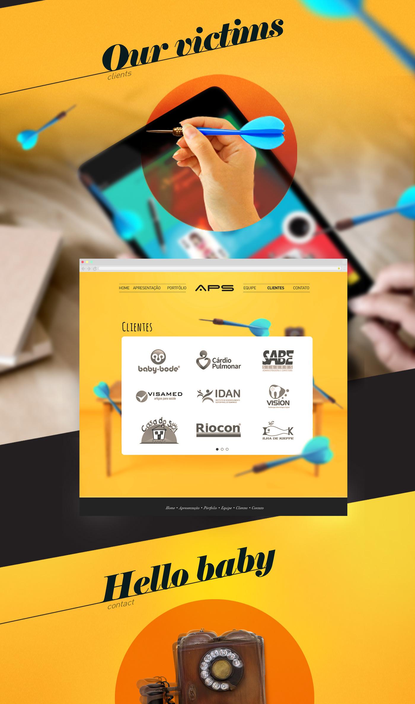 APS colors imagination creative TAZ draw Website ArtDirection Web