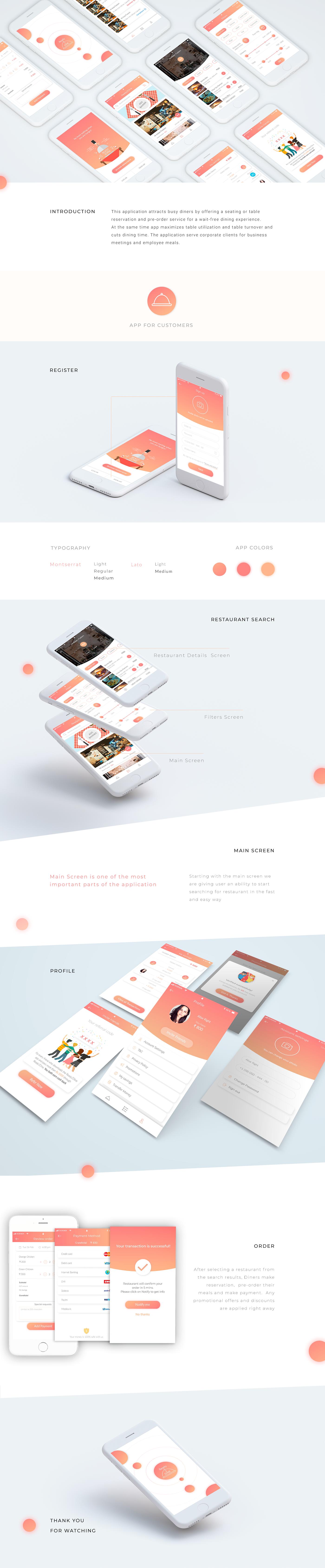 ui design UX design Web Design  restaurant app application ux digital