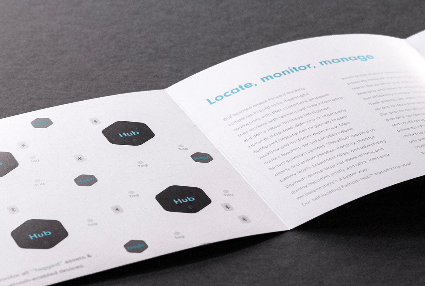 fathom beacon Packaging product UI ux identity IoT bluetooth