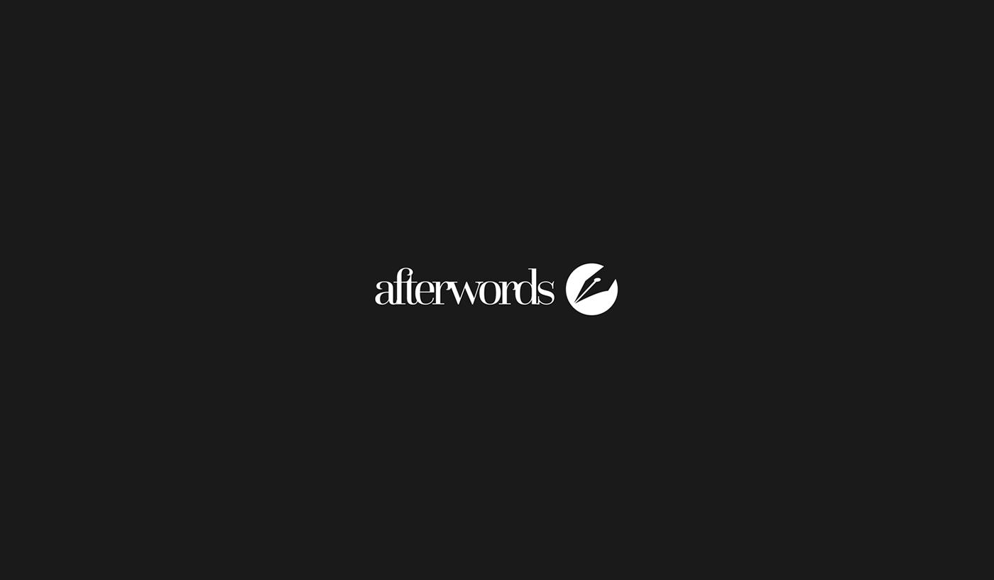 logo branding  minimal black White pen Logotype corporate wordmark Pictorial