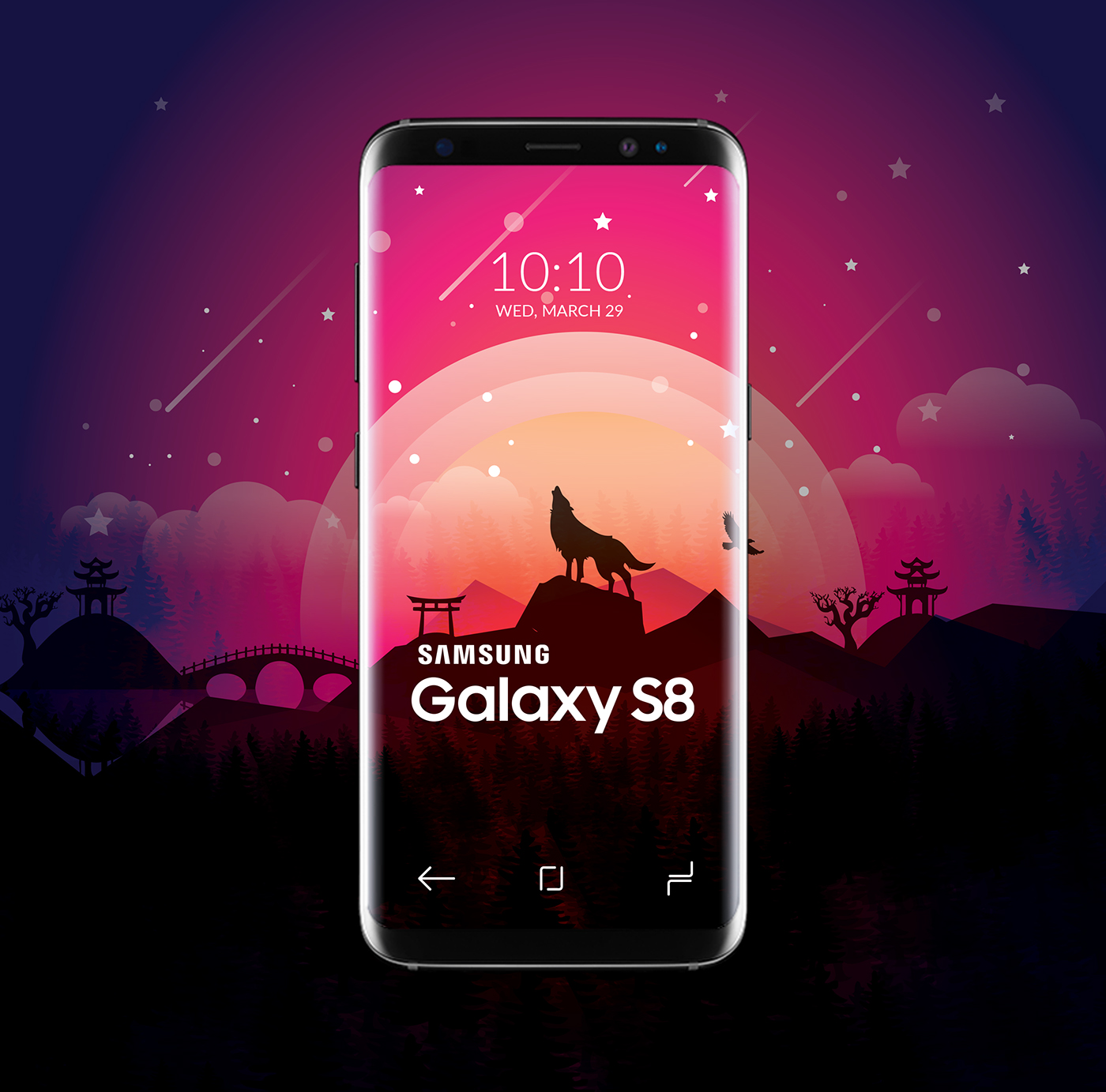 Samsung Galaxy S8 Theme Wallpaper On Behance