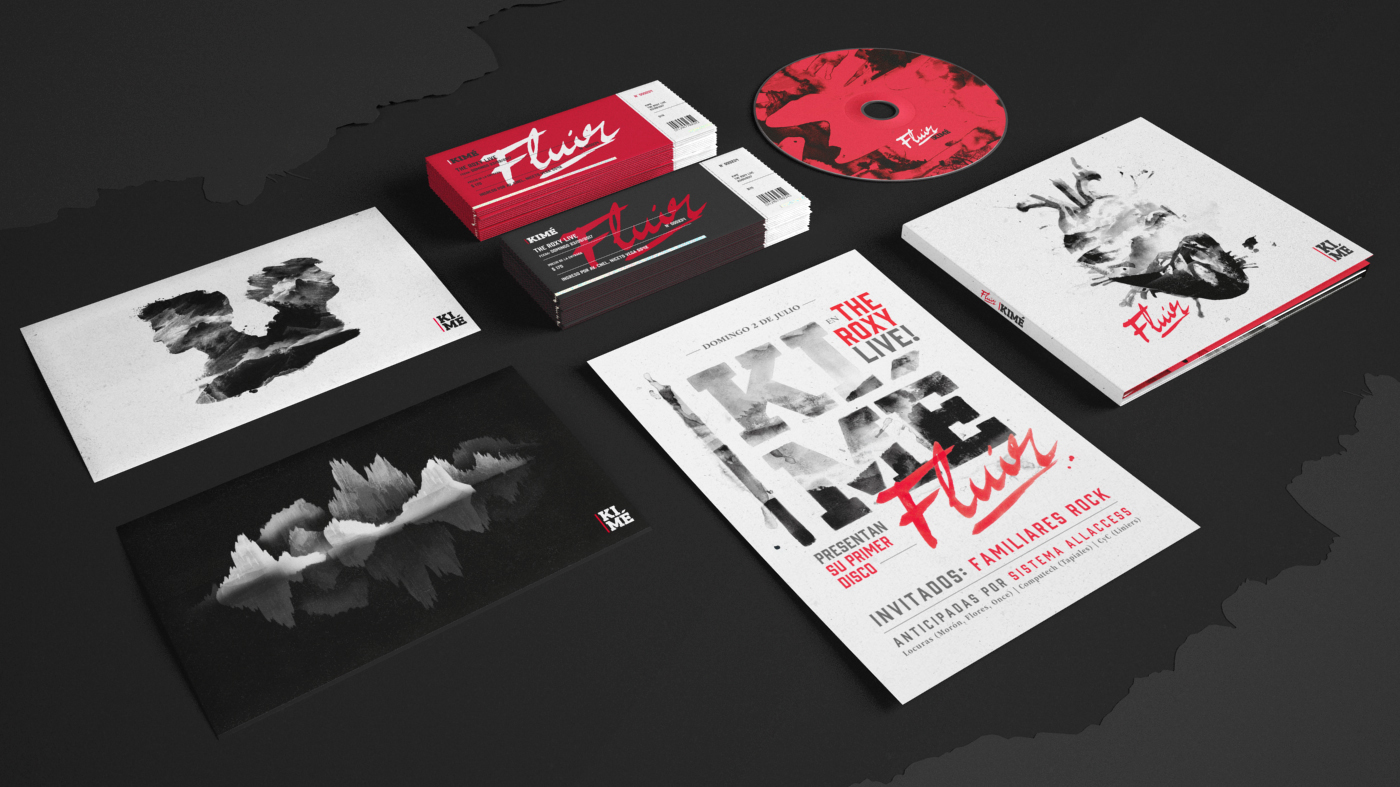Album cover Booklet cd red Cover Art ink Packaging typography