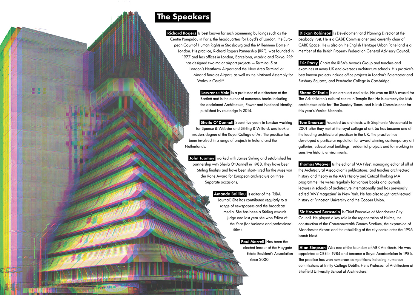 architecture printed poster flyer rgb split modernism decay box contrast