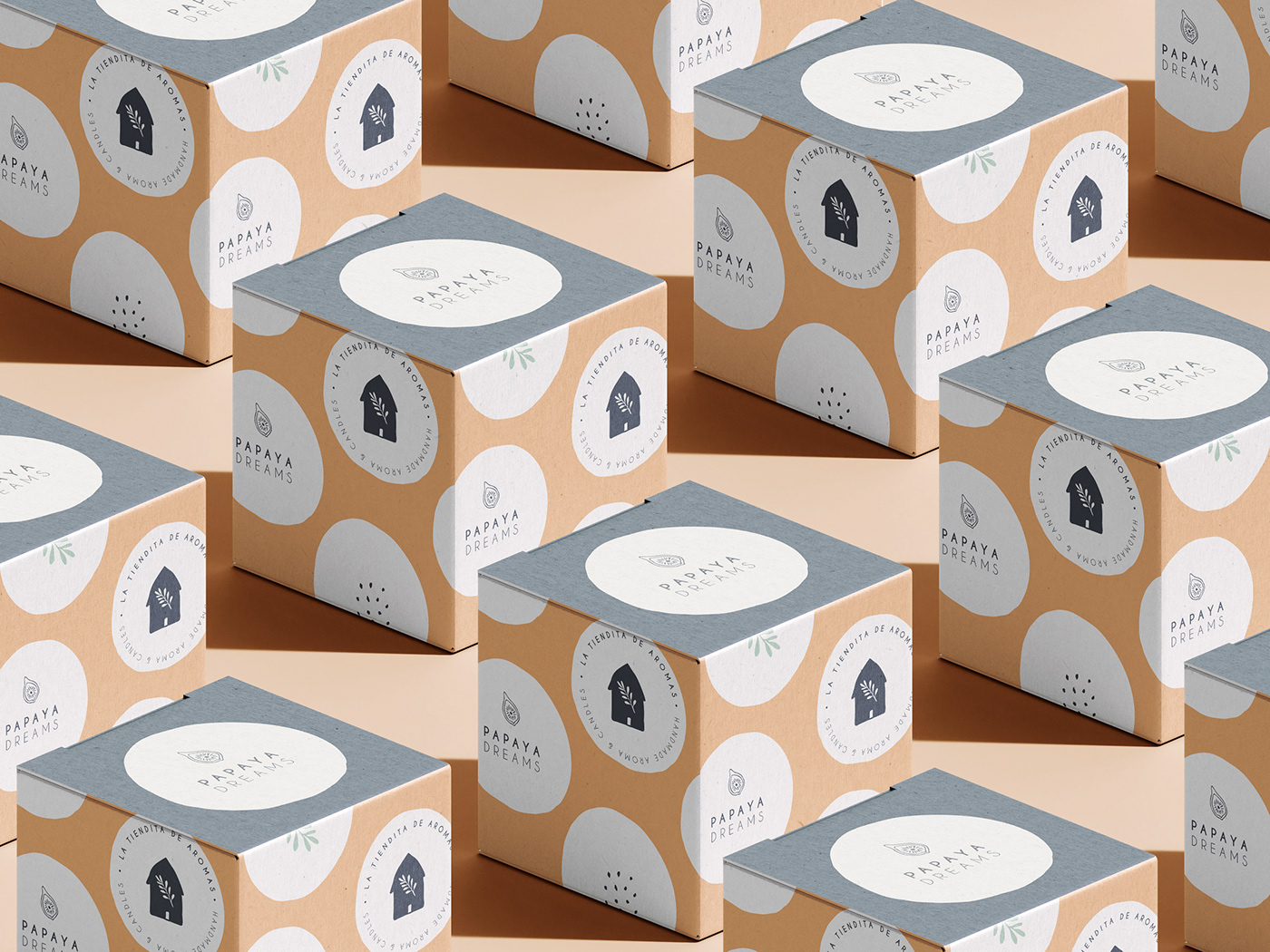 brand identity branding  candles minimalist Packaging