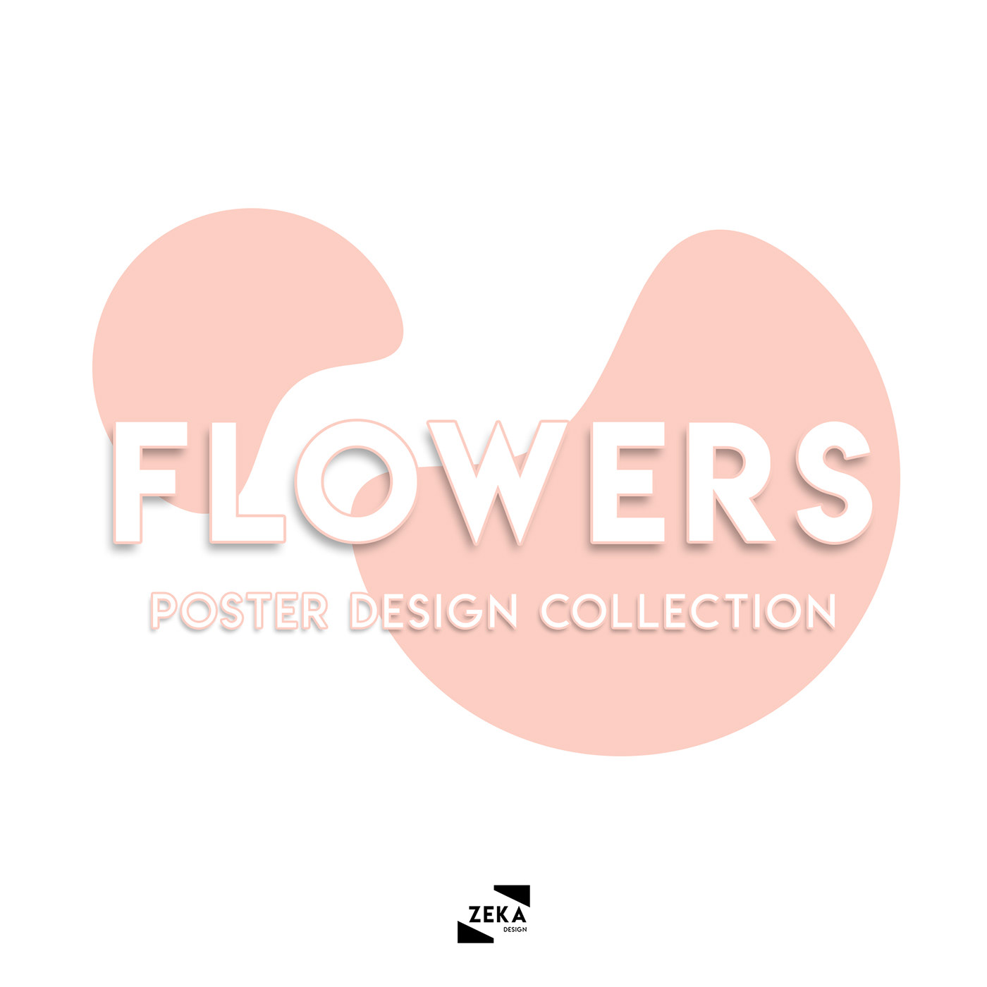 Poster Design graphic design  poster Minimalism Flowers art direction  print design  zeka design design colorful