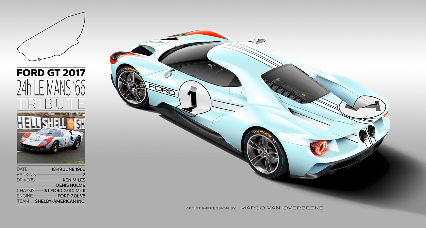 2017 Ford Gt Tribute Liveries On Behance