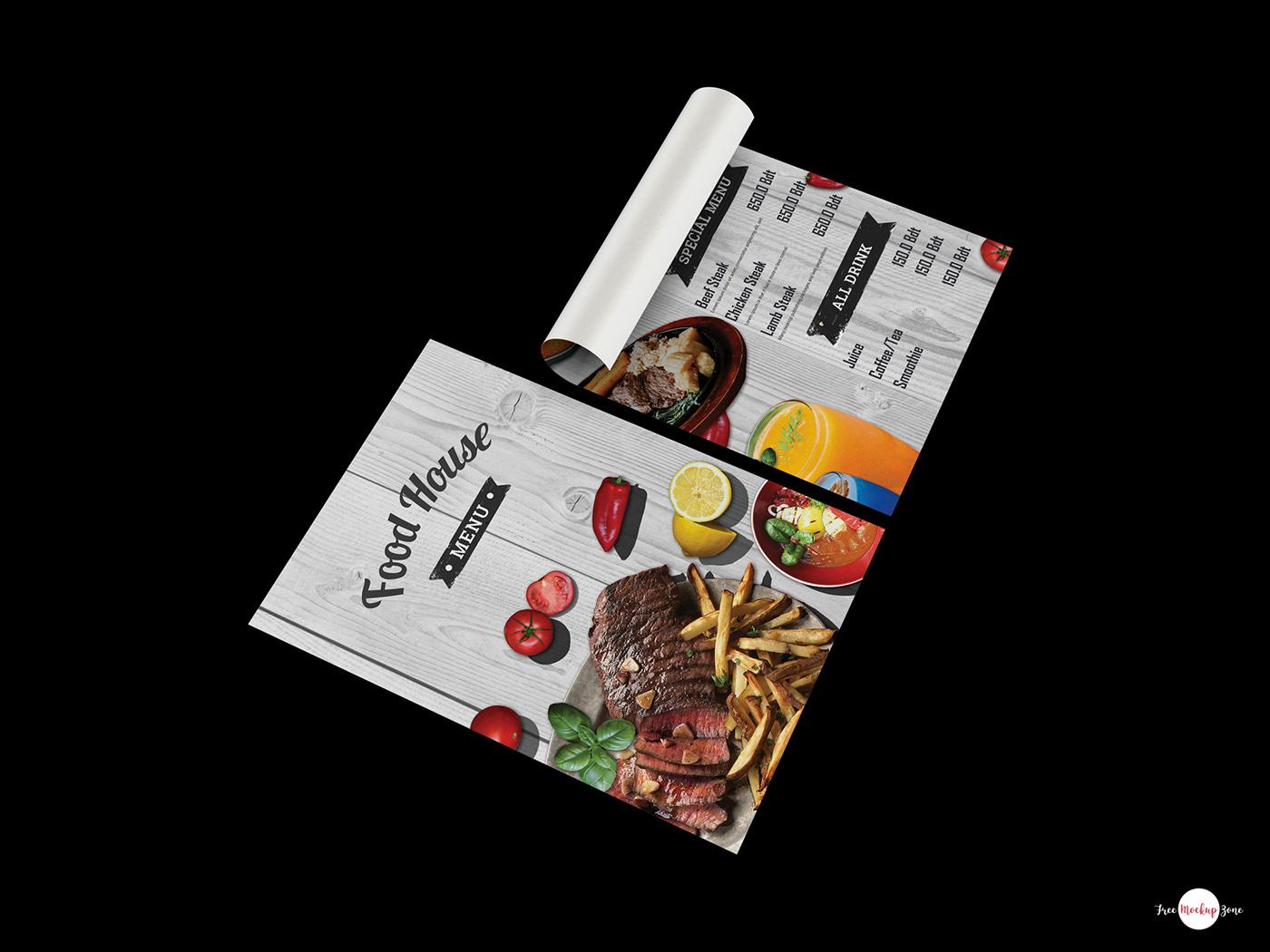 有設計感的42個菜單封面欣賞