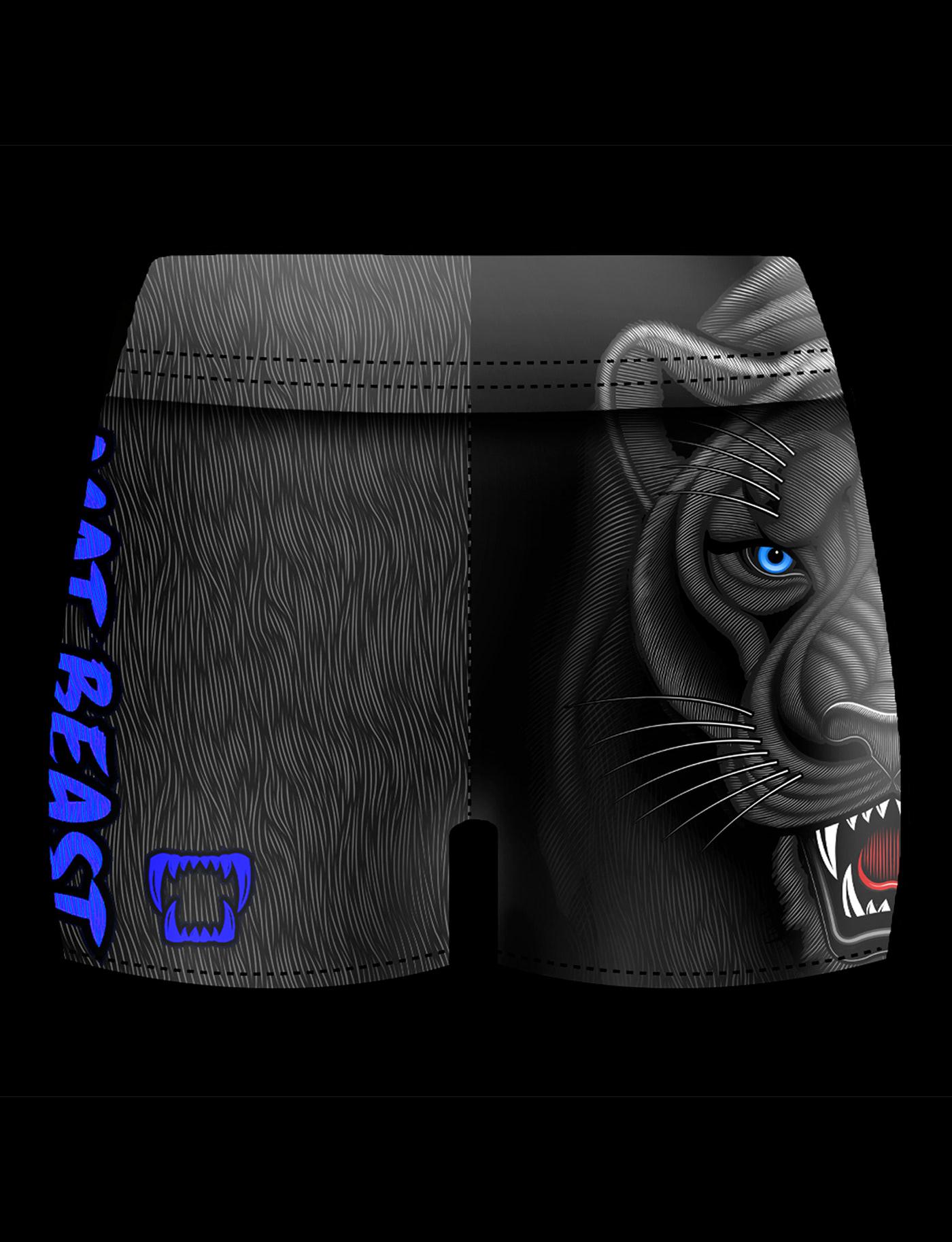 BJJ black panther cats Grappling jiu jitsu MMA panther Rash guard Sportswear vector