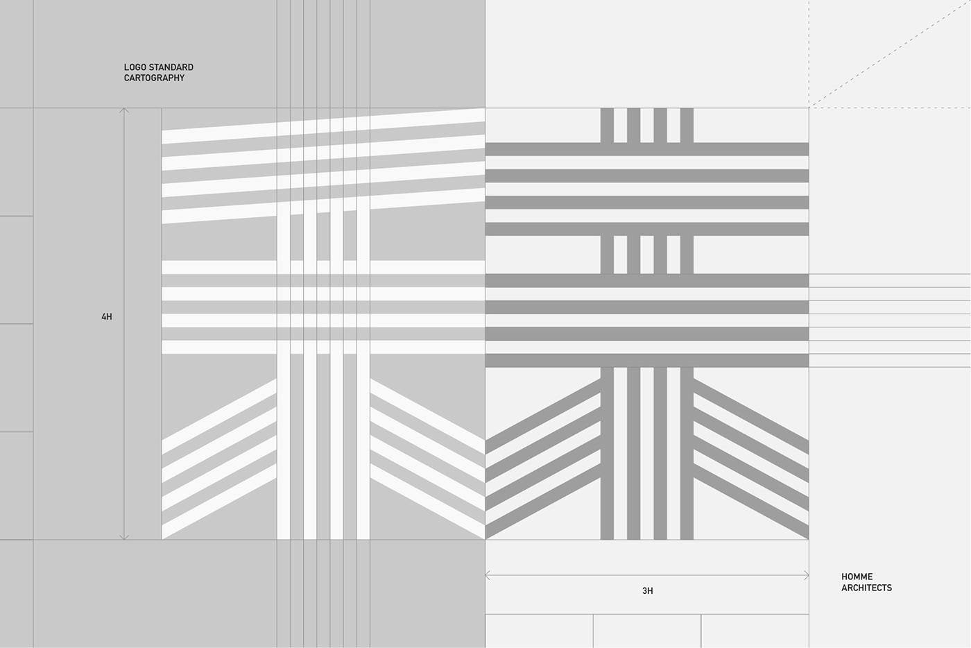 architect architecture branding  building identity Interior logo Minimalism Stationery visual
