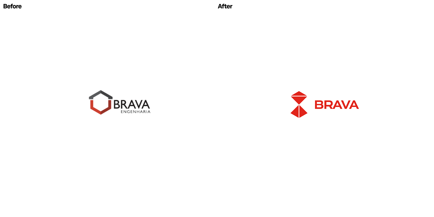 Brava, Redesign, Before and After