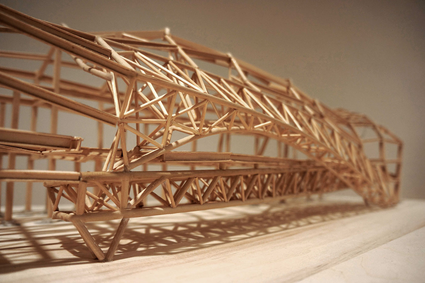 Structure project on wood sculpture museum on behance for Architecte structure
