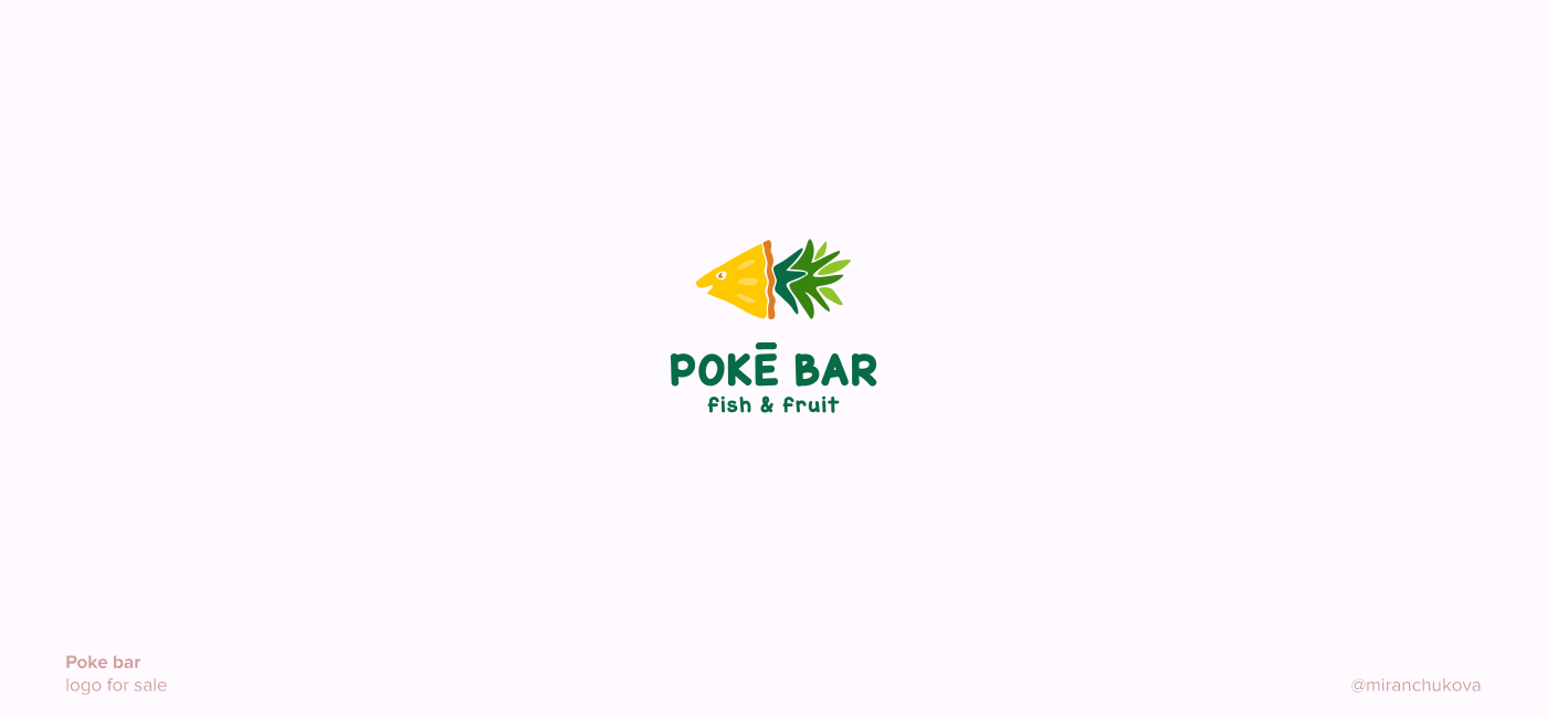 Poke bar. logo for sale