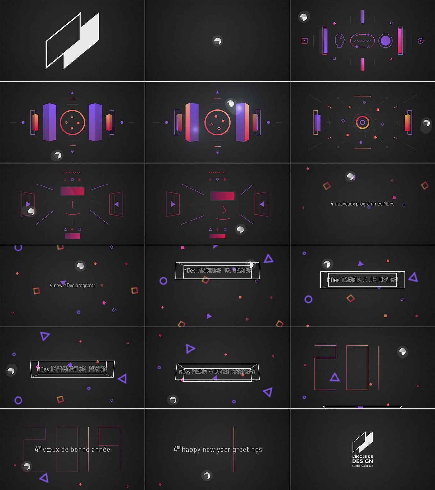 motion design animation  design wishes voeux