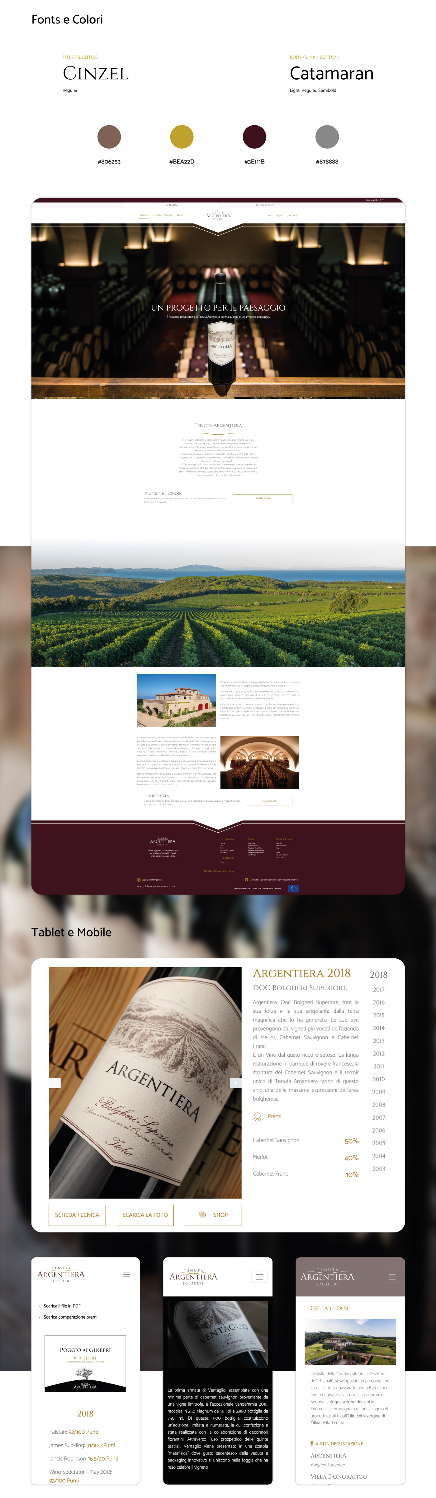 art direction  design development ux/ui Web Website wine