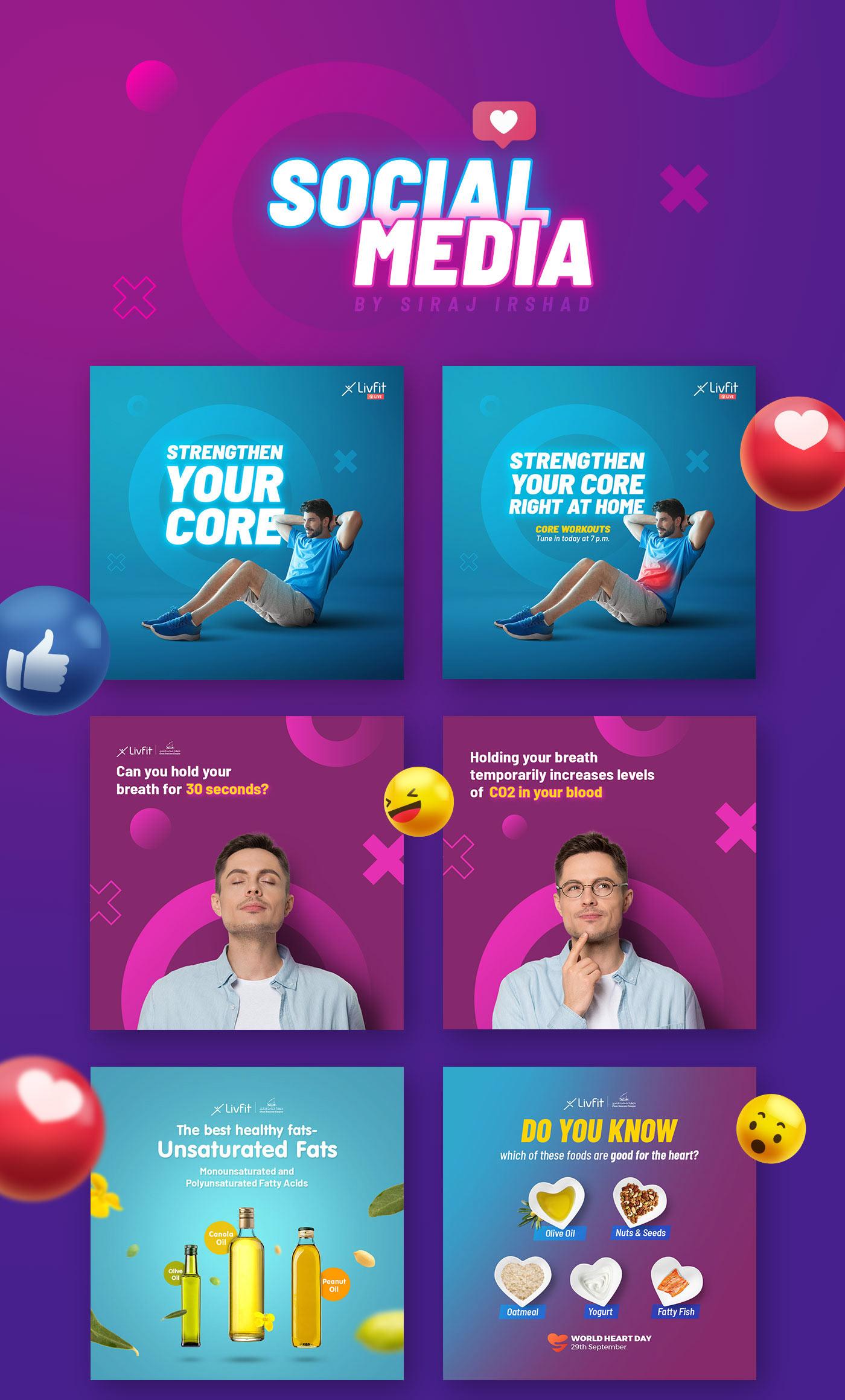 Social media creatives/ads/design for facebook and instagram
