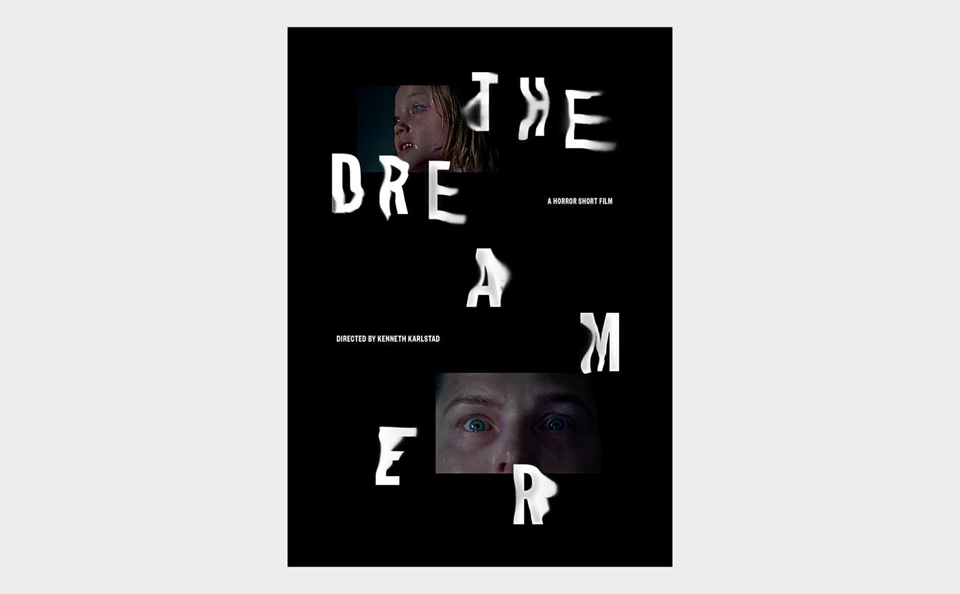 poster movie typography   type animation  graphic design  ILLUSTRATION  horror dark