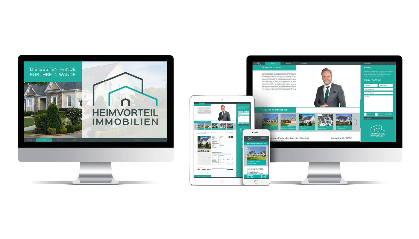 Logo Design Corporate Design Corporate Identity Webdesign real estate Business Cards business Layout