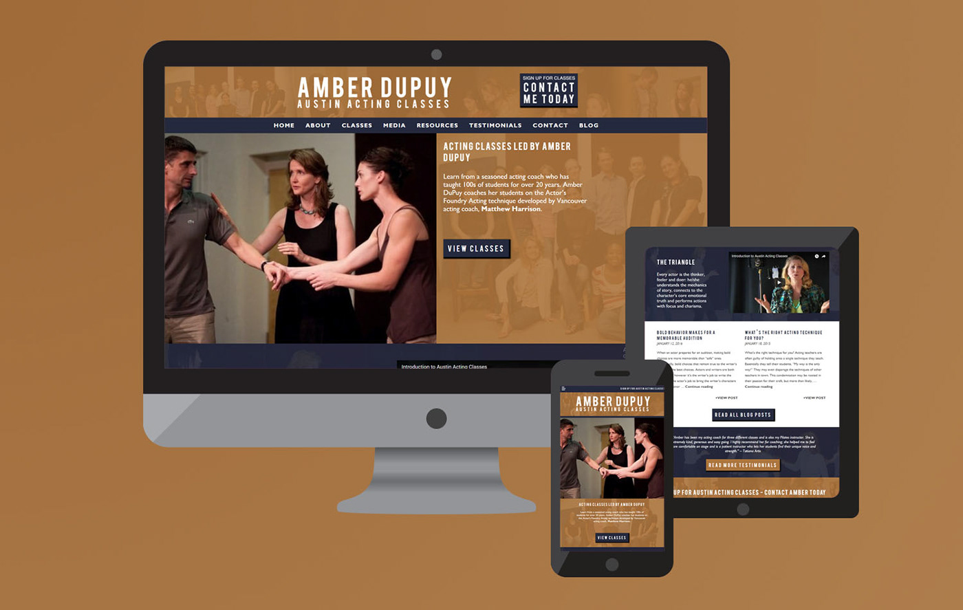 Austin Acting Classes Website Design On Behance