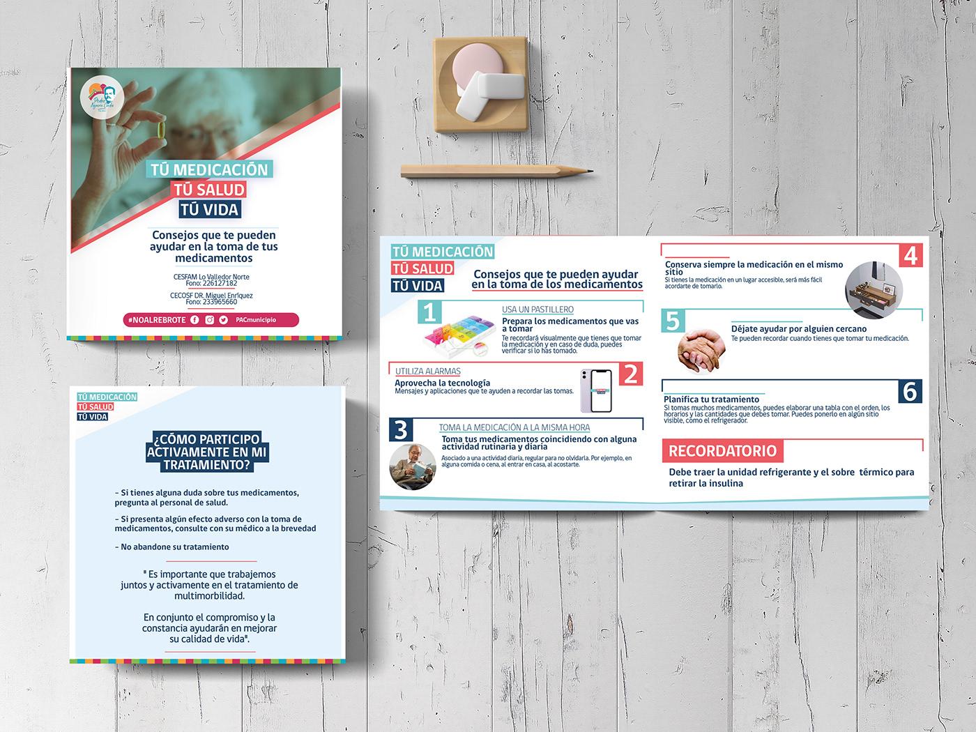 Adulto Mayor diseño diseño gráfico medicamentos municipalidad Papeleria salud