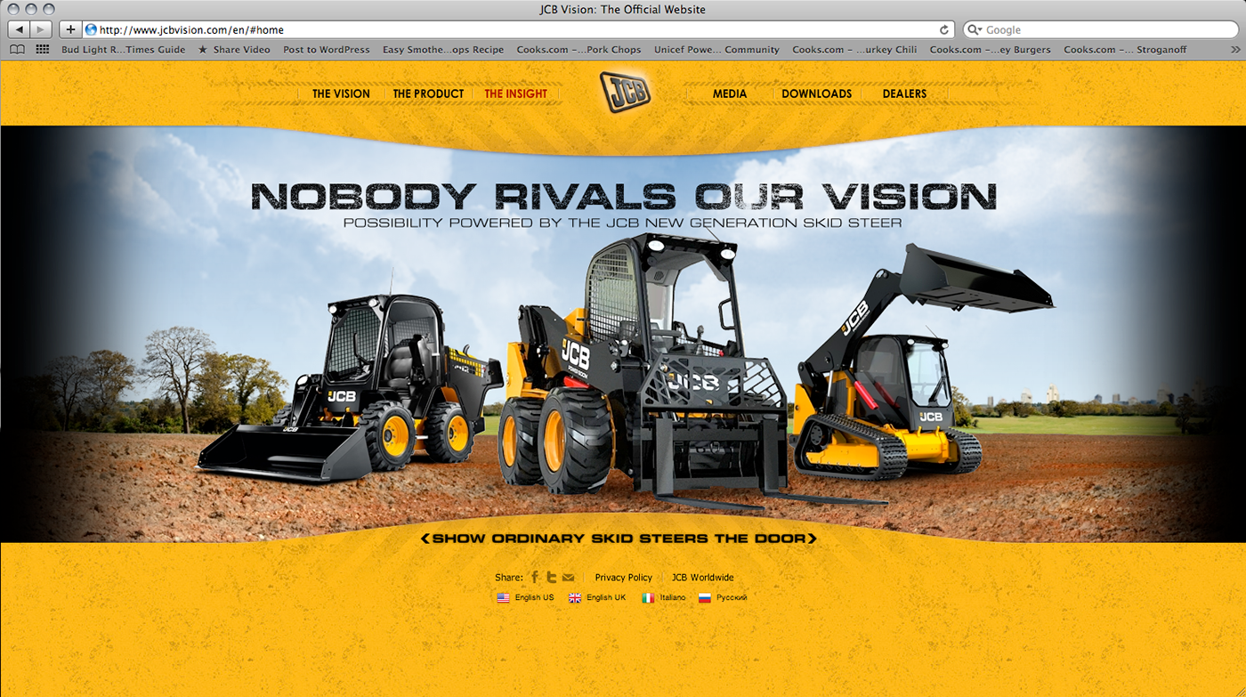 Jcb World Of Vision Website Amp Banner Ad On Behance