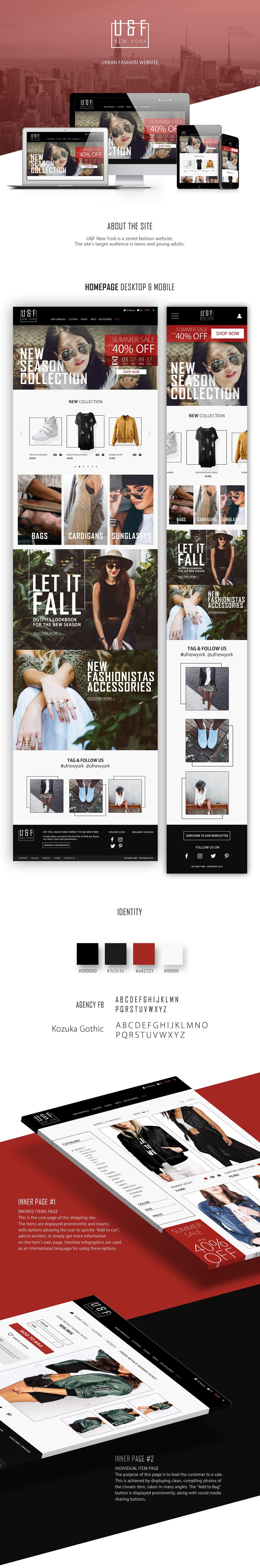 Fashion  UI ux Web Design  Marketing Design Responsive Design interactive design Urban Modern Design