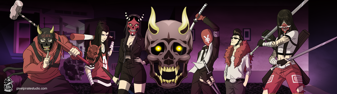 music video Tyga animation  anime hip hop skull