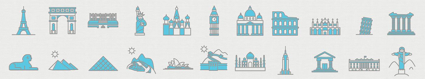 application mobile pictogram Travel pictogrammes communication android vincent baurens vector design