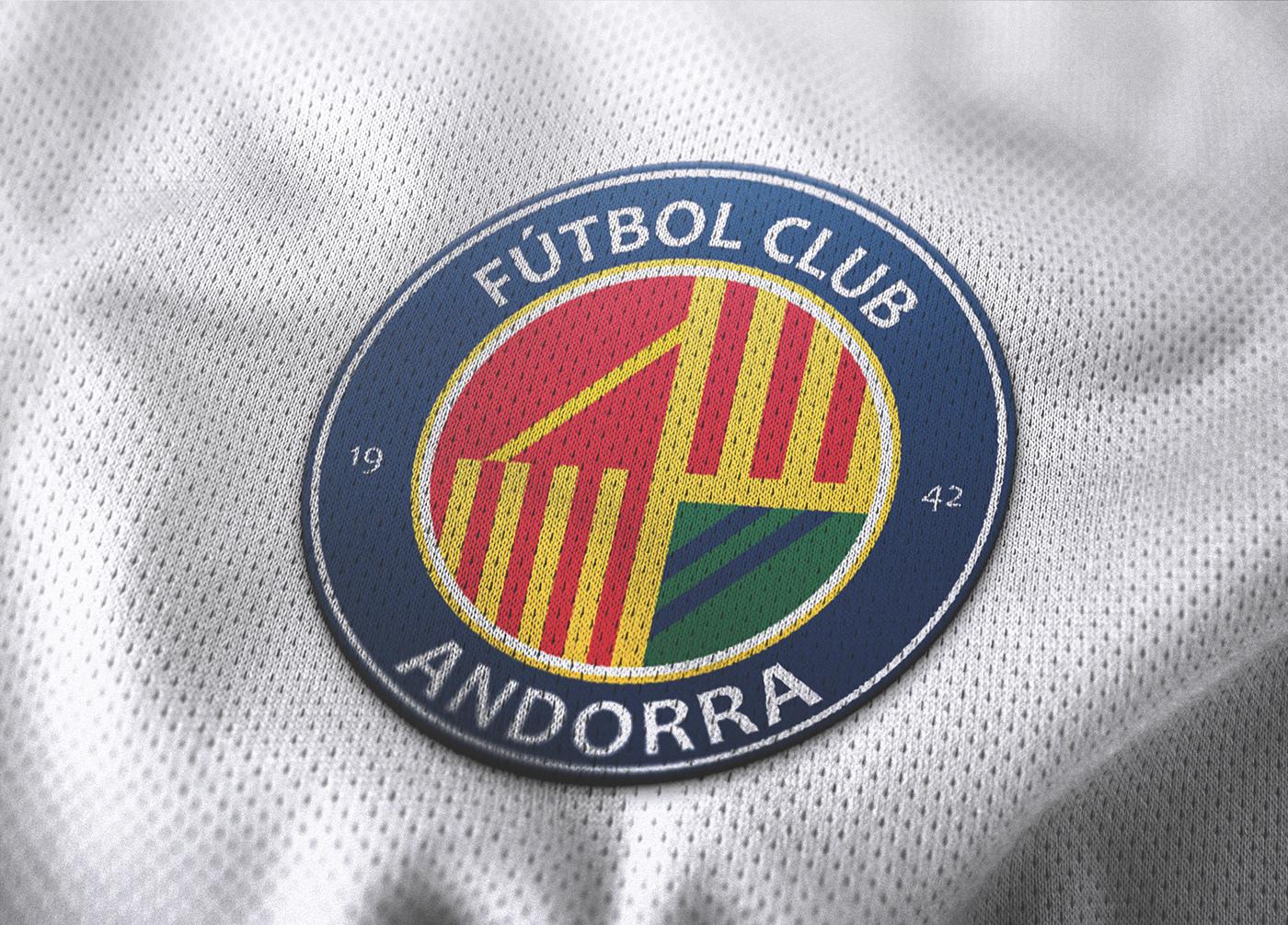 FC Andorra andorra Rebrand Futbol soccer pique Andorra fútbol